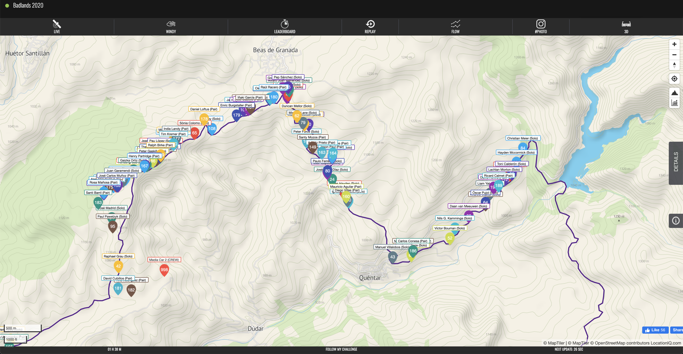 Live GPS tracking by Follow My Challenge