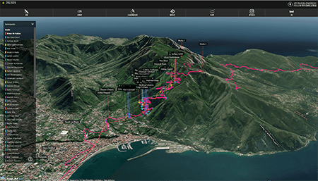 Interactive 3D Live GPS Tracking for sports, events, races and challenges.